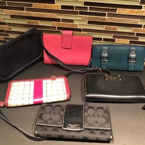Lot of 6 items Kate Spade, Coach
